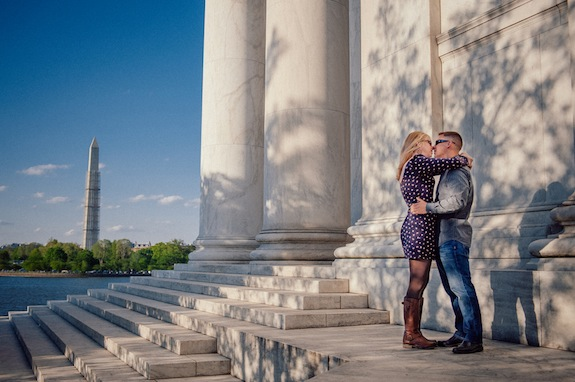 washington dc surprise proposal jefferson memorial