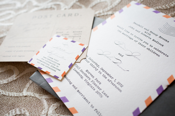 DIY rad alternative northern virginia wedding DIY budget friendly purple orange