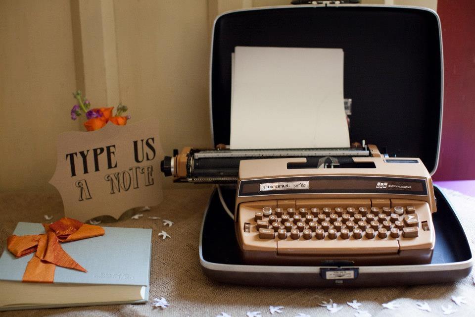 typewriter guestbook
