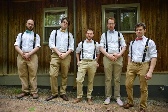 hipster groomsmen suspenders