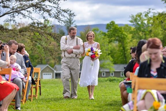 bright colorful handmade DIY small budget casual Virginia farm wedding