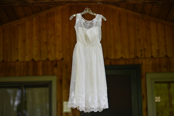 short casual lace wedding dress farm