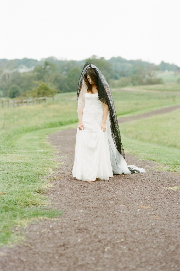 goth bride dark macabre animal alternative bridal portrait pictures