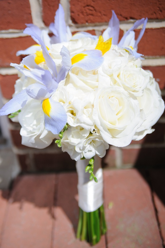 white light blue bouquet