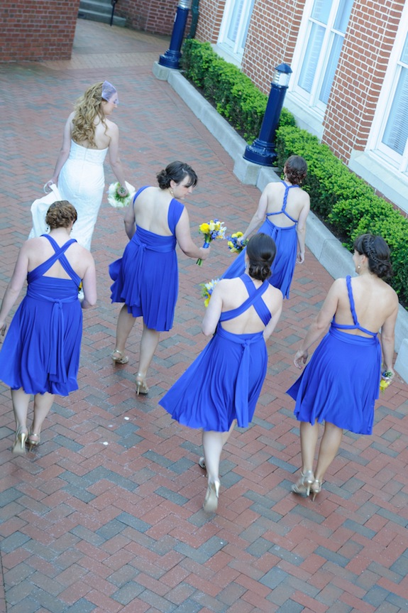 blue interchangeable bridesmaids dress