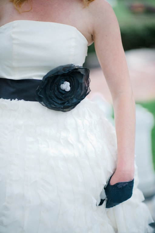 DIY flower belt sash wedding dress