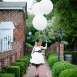 "Capitol Inspiration: Offbeat Black & White ""Mad Hatter"" Bridal Inspiration Shoot"