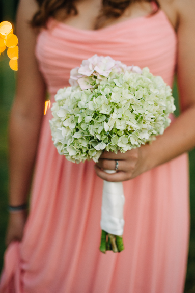 peach bridesmaids babys breath bouquet