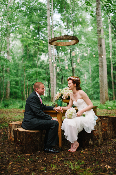 midsummers night dream outdoor woods inspired wedding