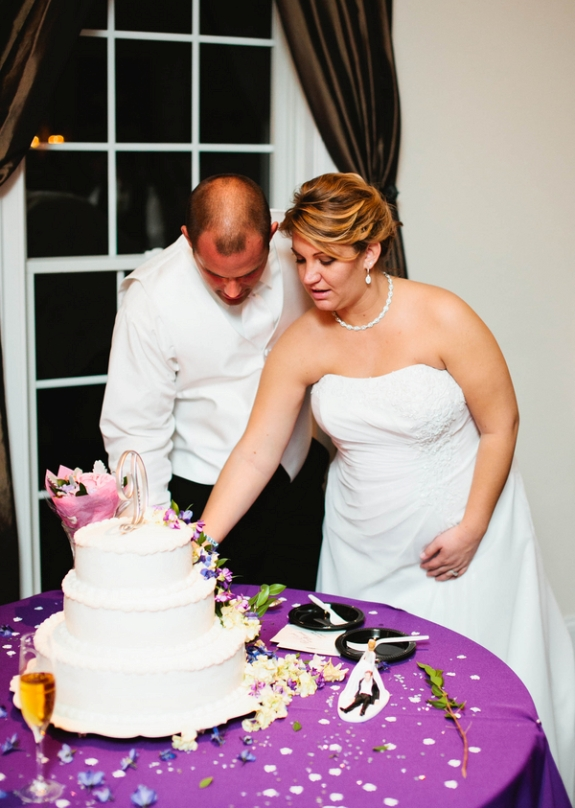 purple rustic northern virginia wedding