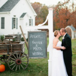 Capitol Wedding: Matt & Kristen's Simple, Rustic Purple Fall Wedding