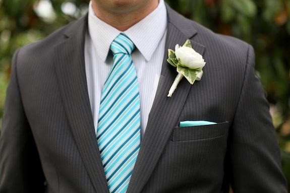 teal blue striped tie groomsmen