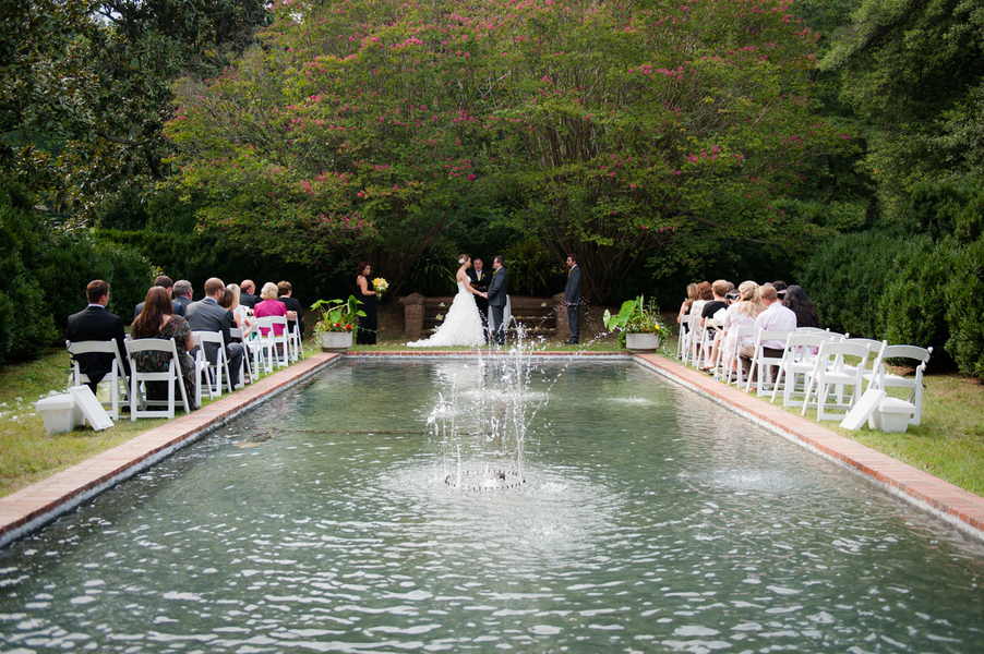 outdoor wedding ceremony northern virginia morven park