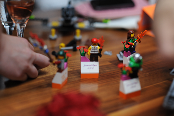 lego themed wedding alternative escort cards