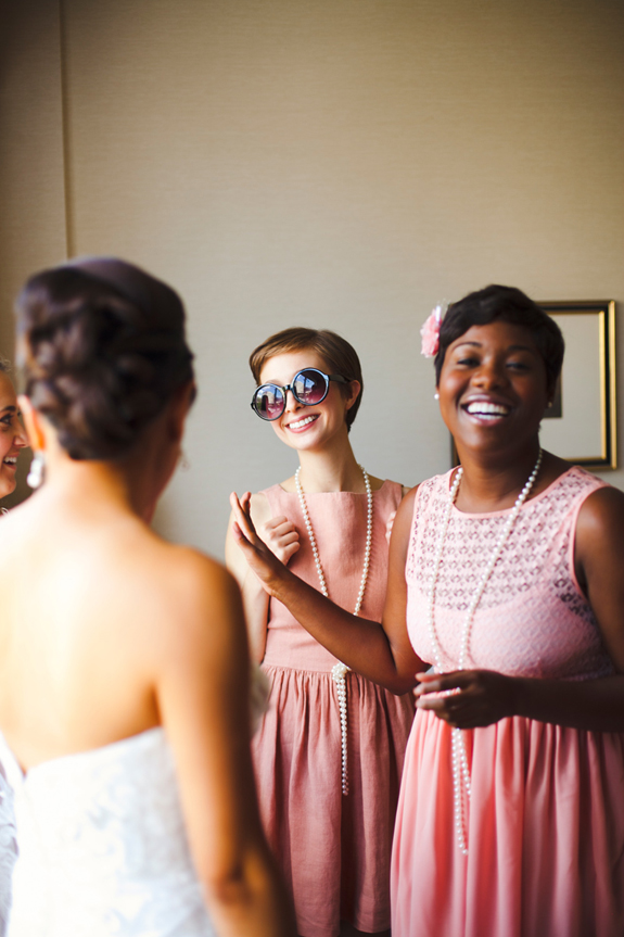 mismatched neutral bridesmaids dresses