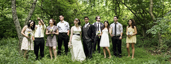 mismatch hipster wedding party