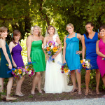 Capitol Nontradition: Nonmatching Bridesmaids' Dresses