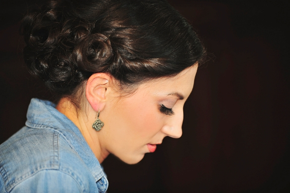 simple modern wedding updo
