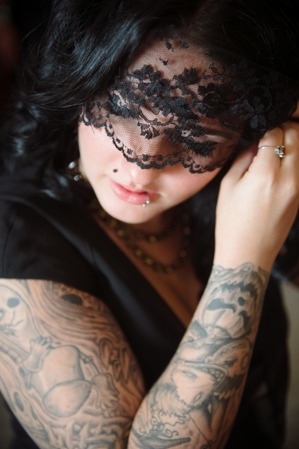 offbeat bride maryland tattoos black wedding dress