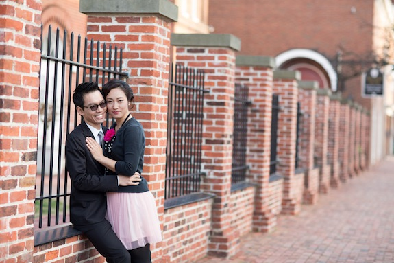 quirky formal old town alexandria virginia engagement pictures