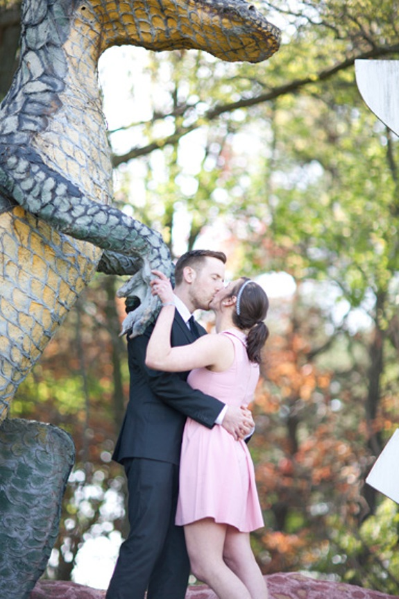 offbeat alternative virginia engagement pictures dinosaurland