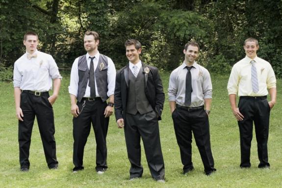 mismatched hipster groomsmen