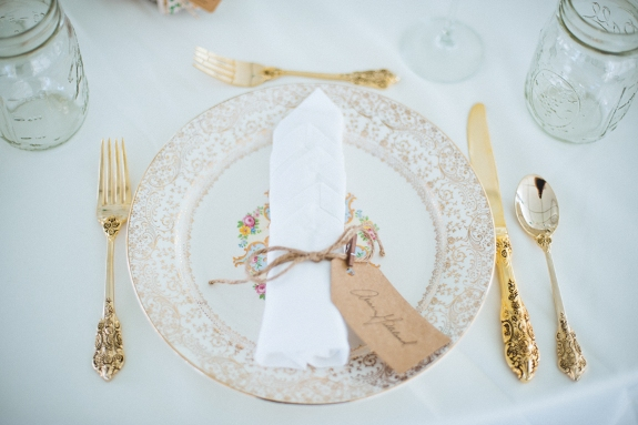vintage place settings virginia wedding