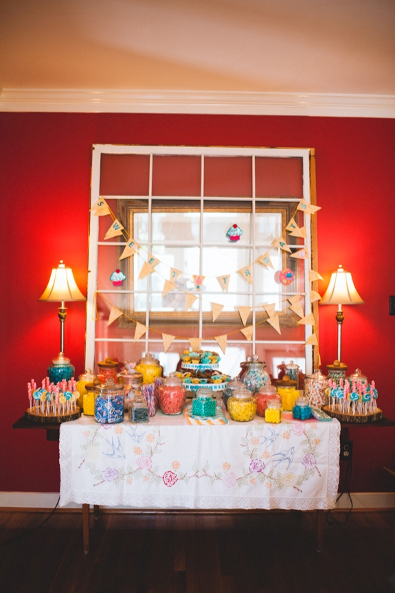rustic eclectic DIY dessert bar virginia wedding