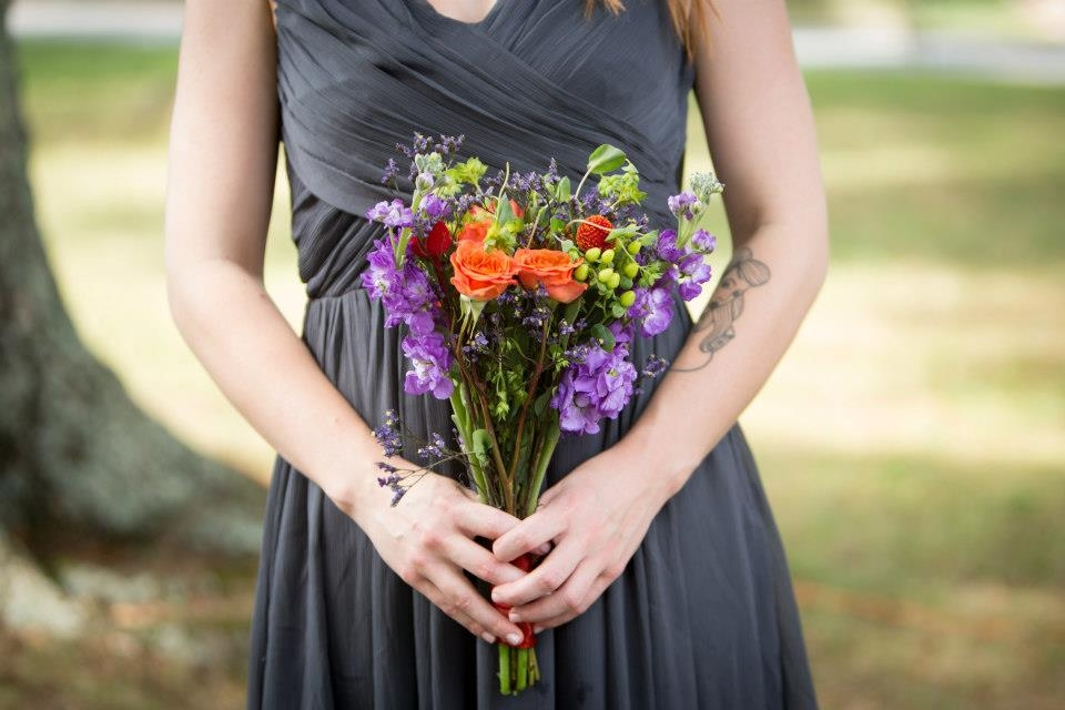 DIY wedding bouquet wildflowers