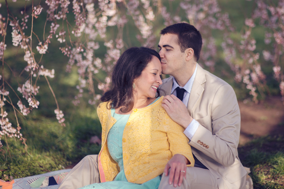 DC engagement cherry blossoms