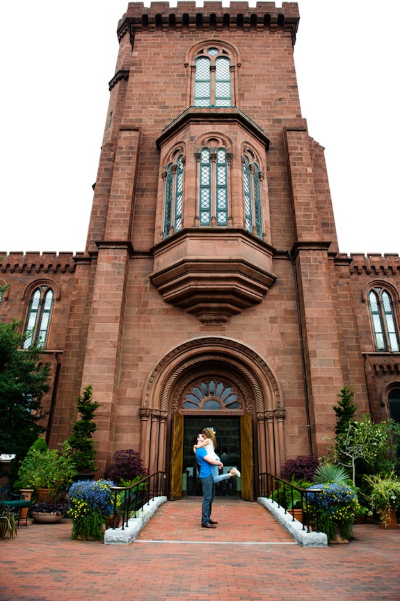 washington dc weddings engagement pictures smithsonian castle