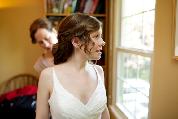 simple virginia wedding bride