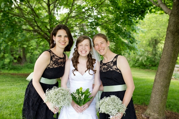 offbeat virginia wedding black & green