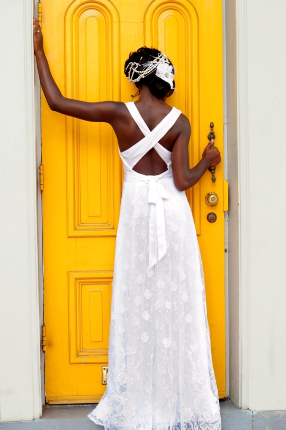 modern unique DC wedding dress