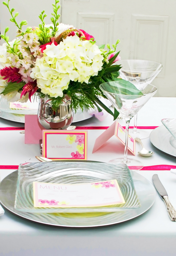 hot pink modern DC wedding