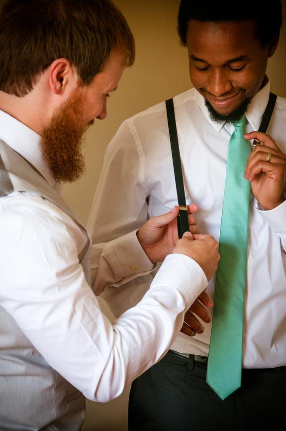 mint tie groomsmen