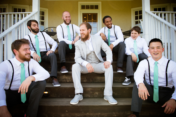 hipster mint grey groomsmen