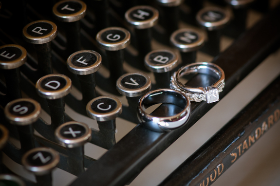 typewriter unique ring shot