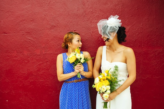 patterned blue anthropologie bridesmaids dresses