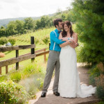 Rebecca & Chris' Bright Blue, DIY Virginia Vineyard Wedding