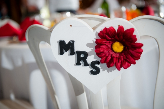 DIY Mrs wood heart wedding sign