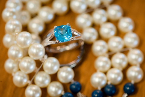 unique blue engagement ring