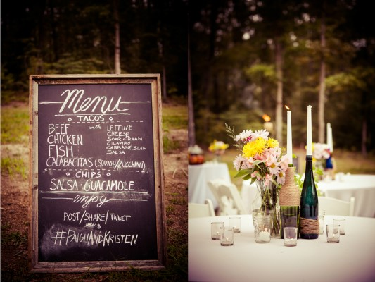 backyard virginia wedding details