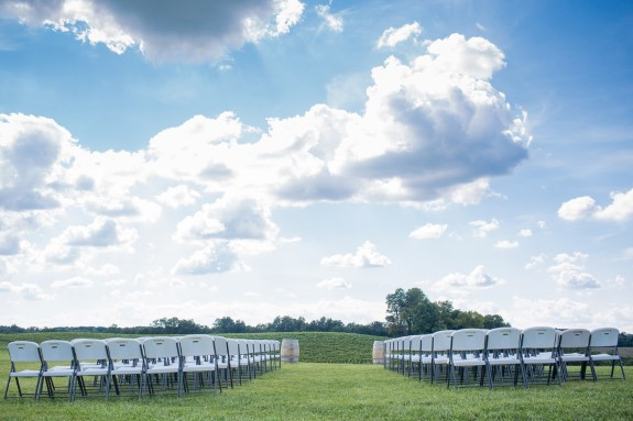 outdoor maryland wedding ceremony