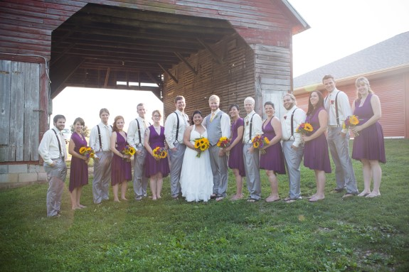 DIY purple wedding party