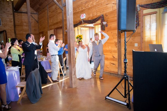 rustic purple maryland barn wedding