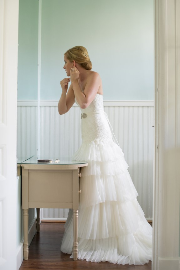 modern wedding dress ruffles