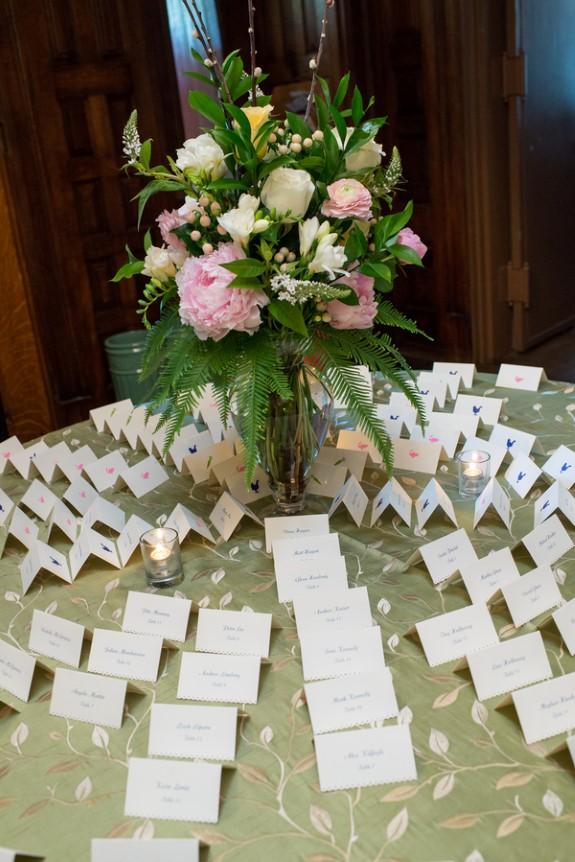 southern elegance dc wedding escort cards