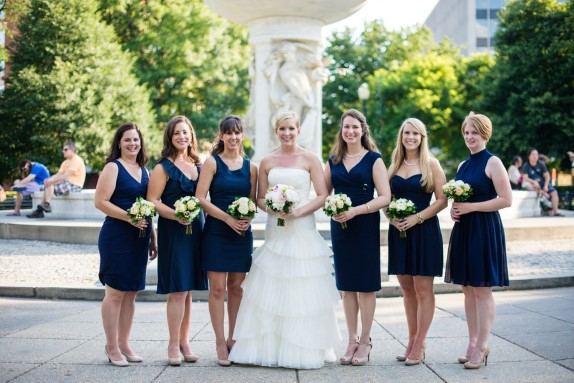 elegant navy blue bridesmaids dc wedding