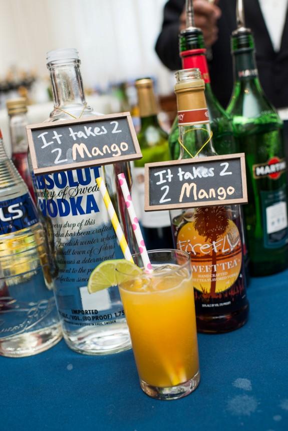 DIY wedding drinks bar